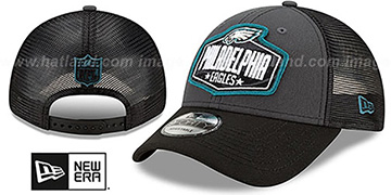 Eagles 2021 NFL TRUCKER DRAFT 940 SNAP Hat by New Era