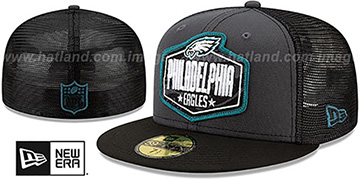 Eagles 2021 NFL TRUCKER DRAFT Fitted Hat by New Era