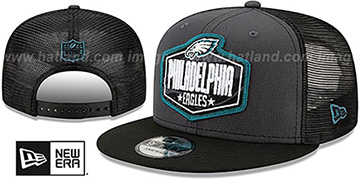 Eagles 2021 NFL TRUCKER DRAFT SNAPBACK Hat by New Era