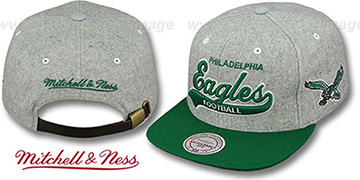 Eagles '2T TAILSWEEPER STRAPBACK' Grey-Green Hat by Mitchell & Ness