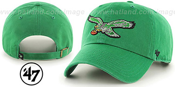 Eagles THROWBACK CLEAN-UP STRAPBACK Green Hat by Twins 47 Brand