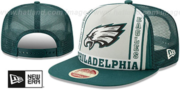 Eagles BANNER FOAM TRUCKER SNAPBACK Hat by New Era