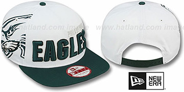 Eagles 'BIGSIDE A-FRAME SNAPBACK' White-Green Hat by New Era