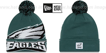 Eagles 'COLOSSAL-TEAM' Green Knit Beanie Hat by New Era