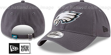Eagles CORE-CLASSIC STRAPBACK Charcoal Hat by New Era