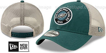 Eagles ESTABLISHED CIRCLE TRUCKER SNAPBACK Hat by New Era