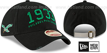 Eagles 'ESTABLISHED YEAR STRAPBACK' Black Hat by New Era