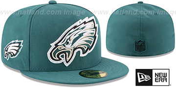 Eagles 'FRAME-FRONT' Green Fitted Hat by New Era