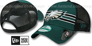 Eagles 'FRONTBAND MESH' Green-Black Hat by New Era