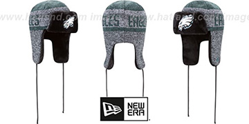 Eagles 'FROSTWORK TRAPPER' Green Knit Hat by New Era