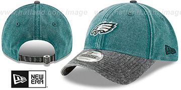 Eagles 'GW RUGGED CANVAS STRAPBACK' Green-Black Hat by New Era