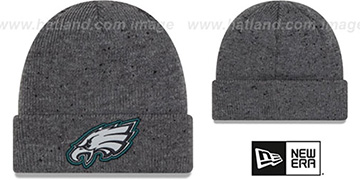 Eagles HEATHERED-SPEC Grey Knit Beanie Hat by New Era