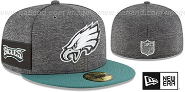 Eagles 'HOME ONFIELD STADIUM' Charcoal-Green Fitted Hat by New Era