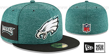 Eagles HOME ONFIELD STADIUM Green-Black Fitted Hat by New Era