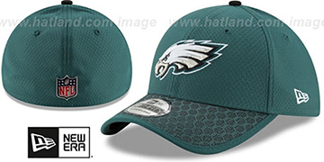 Eagles HONEYCOMB STADIUM FLEX Green Hat by New Era