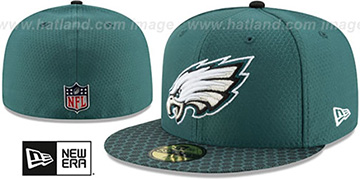 Eagles 'HONEYCOMB STADIUM' Green Fitted Hat by New Era