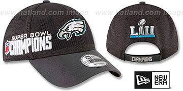 Eagles 'LOCKER ROOM SUPER BOWL LII CHAMPS' Strapback Hat by New Era