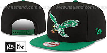 Eagles 'LOGO GRAND REDUX TB SNAPBACK' Black-Green Hat by New Era