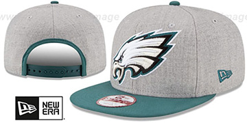Eagles 'LOGO GRAND SNAPBACK' Grey-Green Hat by New Era