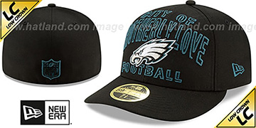 Eagles LOW-CROWN ALT 2020 NFL VIRTUAL DRAFT Black Fitted Hat by New Era