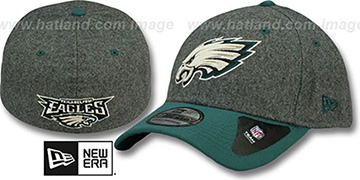 Eagles MELTOP FLEX Grey-Green Hat by New Era