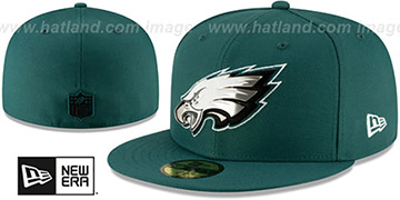 Eagles METAL-N-THREAD Green Fitted Hat by New Era