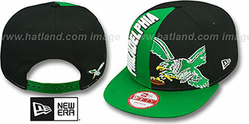 Eagles NE-NC THROWBACK DOUBLE COVERAGE SNAPBACK Hat by New Era
