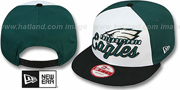 Eagles 'NFL CHRIOGRAPH SNAPBACK' White-Green-Black Hat by New Era