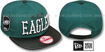 Eagles 'NFL ENGLISH-WORD SNAPBACK' Green-Black Hat by New Era