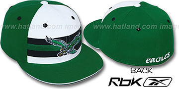 Eagles NFL-HORIZON THROWBACK Fitted Hat by Reebok