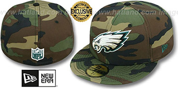 Eagles NFL TEAM-BASIC Army Camo Fitted Hat by New Era