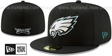 Eagles NFL TEAM-BASIC Black Fitted Hat by New Era