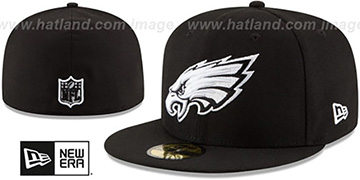 Eagles NFL TEAM-BASIC Black-White Fitted Hat by New Era