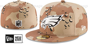 Eagles 'NFL TEAM-BASIC' Desert Storm Camo Fitted Hat by New Era