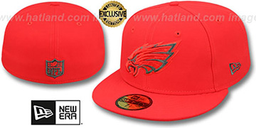 Eagles NFL TEAM-BASIC Fire Red-Charcoal Fitted Hat by New Era