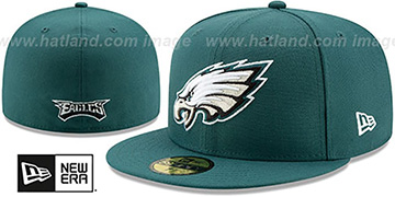 Eagles NFL TEAM-BASIC Green Fitted Hat by New Era