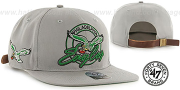 Eagles 'NFL VIRAPIN STRAPBACK' Grey Hat by Twins 47 Brand
