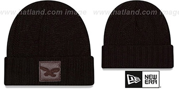 Eagles 'THROWBACK OHANA' Black Knit Beanie Hat by New Era