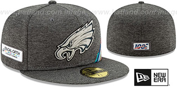 Eagles ONFIELD CRUCIAL CATCH Grey Fitted Hat by New Era