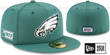 Eagles ONFIELD SIDELINE ROAD Green Fitted Hat by New Era