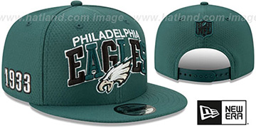 Eagles ONFIELD STADIUM 100 SNAPBACK Hat by New Era