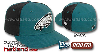 Eagles PINWHEEL-2 Green-Black Fitted Hat