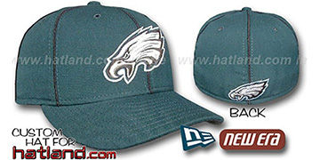 Eagles 'PIPING' Fitted Hat by New Era - green-black