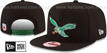 Eagles 'RETRO-BASIC SNAPBACK' Black Hat by New Era