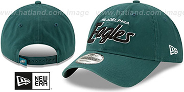 Eagles RETRO-SCRIPT SNAPBACK Green Hat by New Era