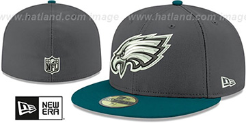 Eagles 'SHADER MELT-2' Grey-Green Fitted Hat by New Era