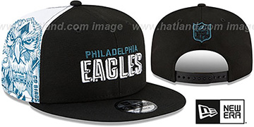 Eagles SIDE-CARD SNAPBACK Black Hat by New Era