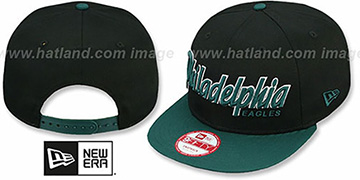Eagles SNAP-IT-BACK SNAPBACK Black-Green Hat by New Era