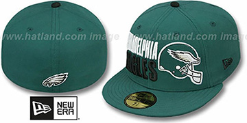 Eagles STACK-THE-BOX Green Fitted Hat by New Era