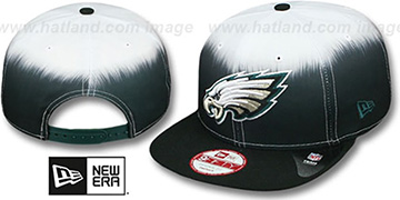 Eagles SUBLENDER SNAPBACK Black-White Hat by New Era